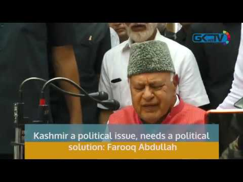 Kashmir a political issue, needs a political solution: Farooq Abdullah