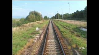 preview picture of video 'Train: Trenčín - Chynorany, in driver cab. video 3'