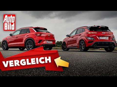 VW T-Roc R vs. Hyundai Kona N (2021) | Das Duell der kompakten Sport-SUVs | Duell mit Malte Büttner
