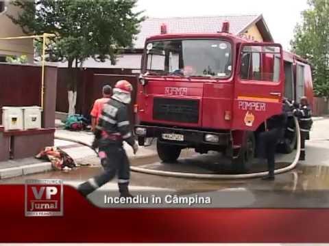 Incendiu în Câmpina