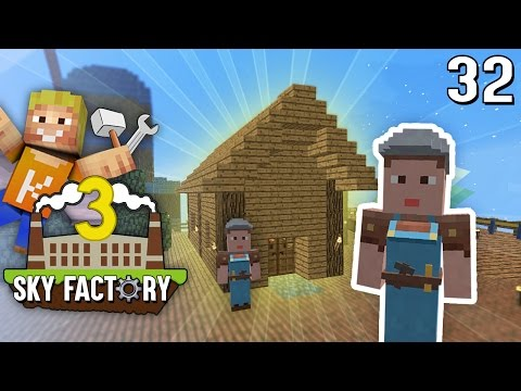 Minecraft Walkthrough - Dorf Upgrade + SCHMIEDE | SKY Factory 3 #29
