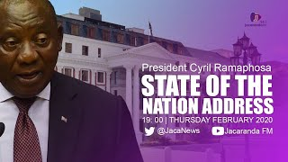 President Cyril Ramaphosa will deliver the State Of the Nation Address at a joint sitting of Parliament on Thursday.