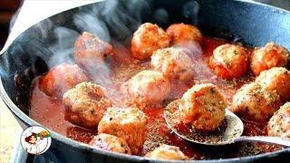 Ароматные фрикадельки в остром соусе. Вкусно, просто и быстро.