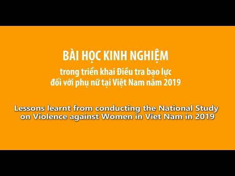 Lessons learnt from conducting the National Study on Violence against Women in Viet Nam in 2019