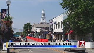 Apex holds drive-thru Red, White and Blue Celebration