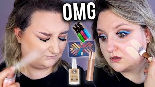 OMG!! FULL FACE FIRST IMPRESSIONS TESTING NEW MAKEUP