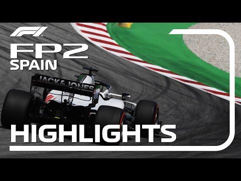 F1 2020 第6戦スペインGP(カタルニアサーキット)フリープラクティス2 ハイライト動画