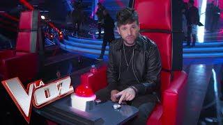 Pablo López descubre el nuevo botón de bloqueo de 'La voz'