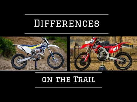 Motocross vs Enduro Bike (Vlog 1)-Trail Riding