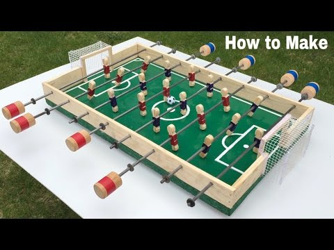 how to make a table football at home foosball mini. Black Bedroom Furniture Sets. Home Design Ideas