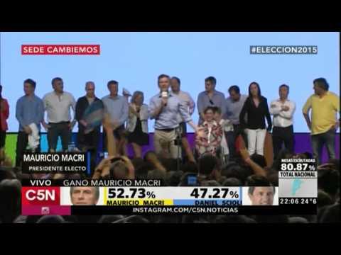 C5N - Eleccion 2015: El primer discurso de Mauricio Macri como presidente