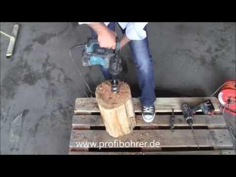 HowTo Schlangenbohrer verwenden mit Vorbohren