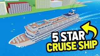 My 5 STAR Cruise Ship.. Made MILLIONS From Only RICH Customers (Roblox Cruise Ship Tycoon)