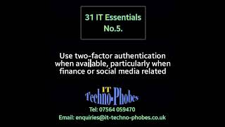 IT Techno-Phobes Limited Tip 5 – IT Support Services In Stourbridge