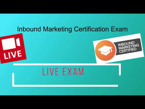 LIVE Inbound Marketing Certification Exam - Answers for June 2018 ...