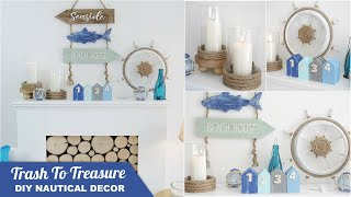 DIY Nautical Farmhouse Decor ⚓ Trash To Treasure Beach And Coastal Crafts