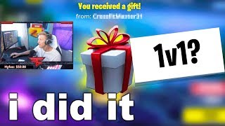I Challenged POPULAR Fortnite STREAMERS To 1v1 Me...
