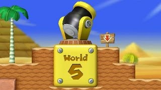 New Super Mario Bros Wii - All Warp Cannons