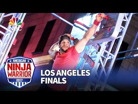Adam Rayl at the Los Angeles Finals - American Ninja Warrior 2017