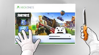 "Xbox One ""FORTNITE"" Console Unboxing (Eon Skin Bundle) Battle Royale Solo Victory Gameplay"