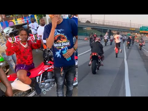 42 Dugg Brings The Whole Hood Out To Ride Motor Bikes Through Detroit