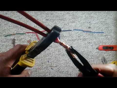 Empalmes de alambres y cables/Wire and cable joints.