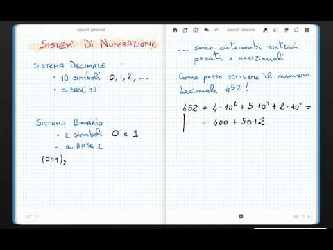 Sistemi di numerazione decimale e binario