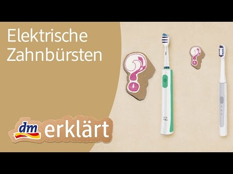 dm erklärt: Gesunde Zähne durch Zähneputzen mit elektrischer Zahnbürste