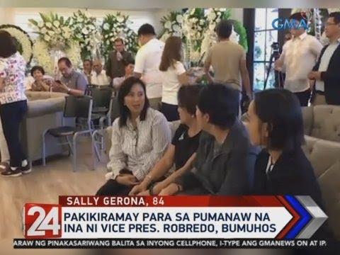 [GMA]  24 Oras: Pakikiramay para sa pumanaw na ina ni Vice Pres. Robredo, bumuhos