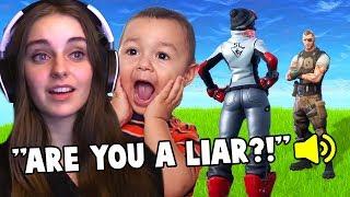 Kid LIES to me in Fortnite!