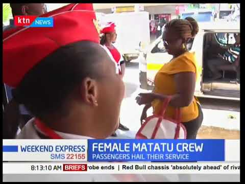 Female matatu touts for Nakuru shuttle hailed for their professional service