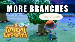 Animal Crossing New Horizons How To Get More Tree Branches - No More Sticks