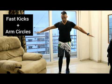 Fast Kick With Arm Circles