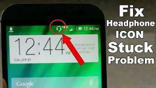 how to fix Headphone icon stuck notification bar problem / headphone symbol problem- hands-free mode