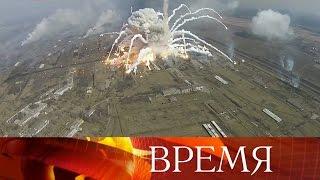 Огонь наскладе боеприпасов вХарьковской области ликвидирован.