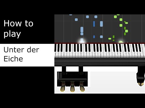 Equilibrium - Unter der Eiche - Tredecim125 cover (Piano tutorial - Synthesia)