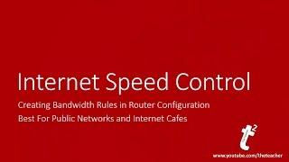 Cara Mengontrol Unduhan Internet Dan Mengunggah Kecepatan Melalui Jaringan Menggunakan Router Wifi