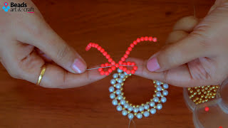 DIY Pearl Christmas Wreath 2019 |  Christmas Ornaments | Christmas Decorations Ideas | Beads Art