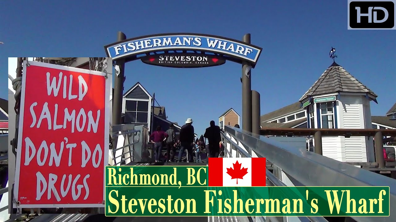 Fisherman's Wharf Steveston Harbour in Richmond BC Canada