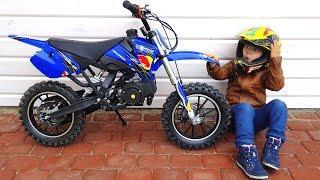 Funny Senya Unboxing And Test Drive The Cross Bike - Ride On Mini BIKE POWER WHEEL Pocket Bike