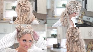MY 10 FAVORITE EVERYDAY BRAIDED HAIRSTYLES!! - Video Youtube