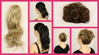 2 New Hair Pieces: Scrunchie And Clip In Ponytail (Official Godivas Secret Wigs Video)