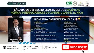 Medición Post Covid                         Cálculo de deterioro de Activos Fijos según la NIC 16 y