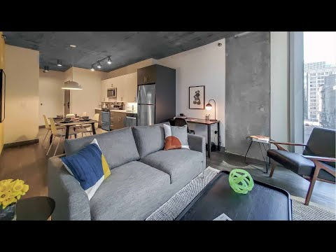 One-bedroom Plan 01 at the Loop's new Parkline Chicago