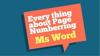 How to insert page numbers in Word, start page number on page 3  and other page number tips - 2019
