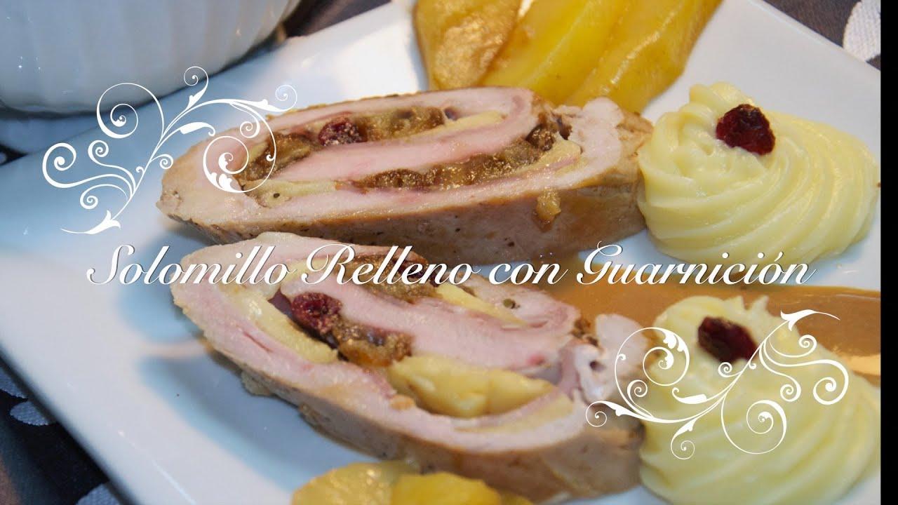 Solomillo relleno de Manzanas y Dátiles | Lomo Relleno de Manzana | Recetas Thermomix