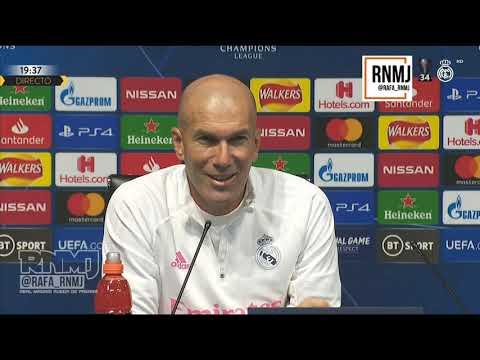Rueda de prensa previa de ZIDANE Manchester City vs. Real Madrid (06/08/2020)