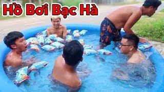 LamTV - Trận Chiến Hồ Bơi Nước Đá Bạc Hà Siêu Lạnh | Ice Pool Battle
