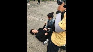 Hari Won | Gia Đình Mén (bts) | Hari vô tư ăn trong lúc đồng nghiệp bị đánh chảy máu