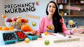 Pregnancy Mukbang Q&A - My First Trimester | Dhar and Laura
